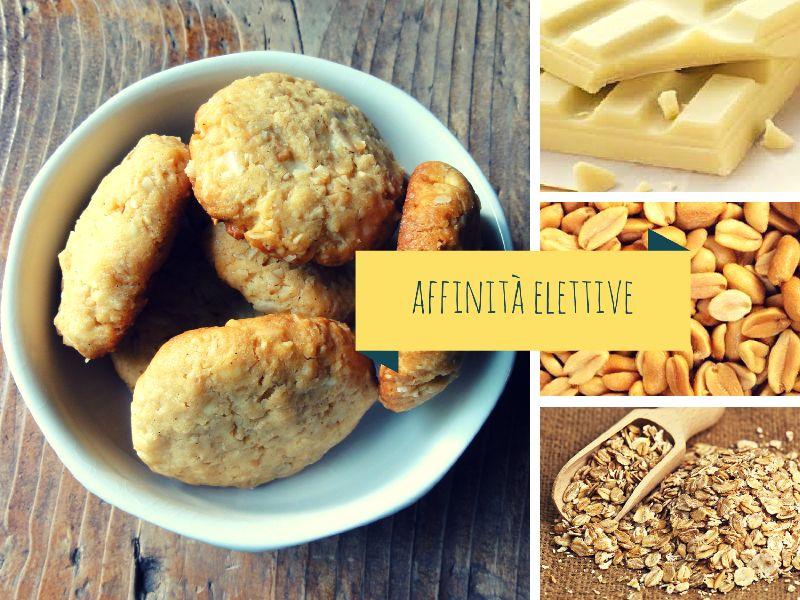 Biscotti al cioccolato bianco e burro di arachidi