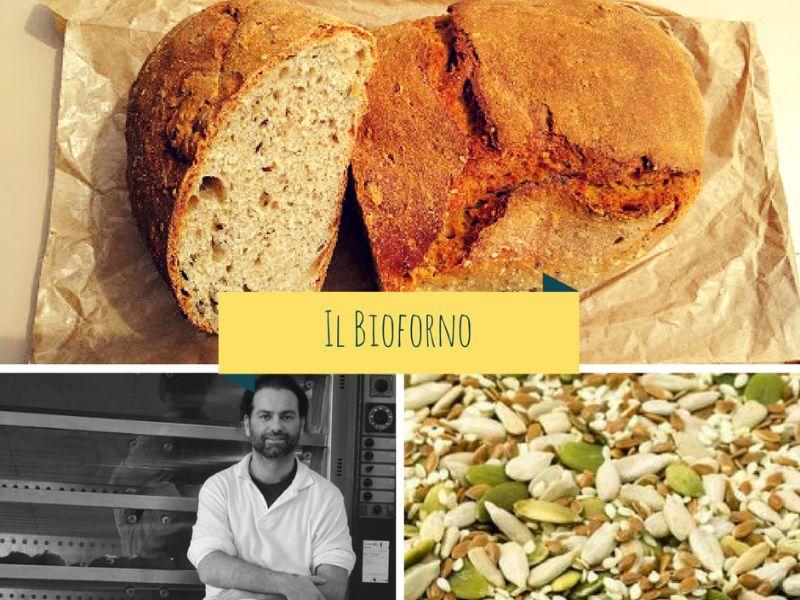 Pane di miscela di multicereali integrali con semi misti bio